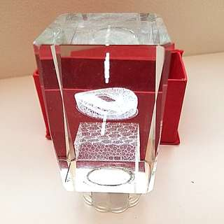 Beijing Olympics Lit Glass Prism