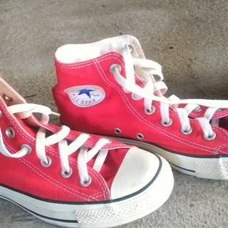 Authentic Red Converse High Cut