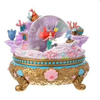 ❤️超鐘意 🇯🇵日本代購 迪士尼 Disney 美人魚 小魚仙 Aerial 水晶球 音樂盒🎼🎶