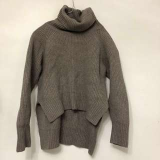 Aritzia mock neck sweater taupe Wilfred