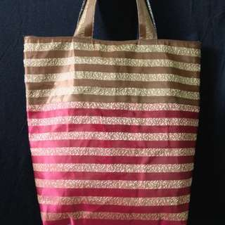 Home made Tote Bag With zip & pockets