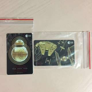 Limited Edition brand new Star Wars BB-8 And Falcon Millennium Design ezlink Cards For $13.90 Each.