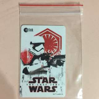 Limited Edition brand new Star Wars The Last Jedi Troopers Design ezlink Card For $11.90.