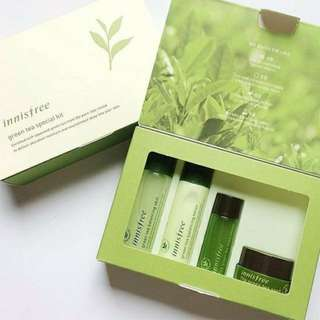 PROMO MURAH INNISFREE Green Tea Special Kit (4 items) New 100% Original Korea Skincare