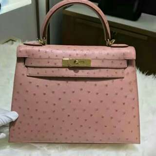 HERMES OSTRICH LEATHER