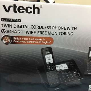 Vetch VC7151-202A 室內數碼無線雙子電話