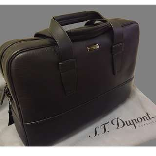 S.T.Dupont /ST Dupont- briefcase backpack, 背囊 公事包 (Leather)