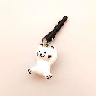 Glass Cat Dust Plug Phone Accessory
