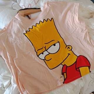 Bart Simpson Eat My Shorts Crop Top
