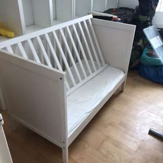 Ikea crib and mattress