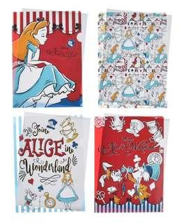 減價中!🇯🇵日本代購 迪士尼 Disney 愛麗斯 Alice A4 file 1set 4個 可散買