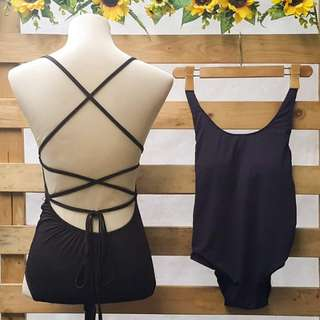 1 Piece Strappy Caged Bathing Suit