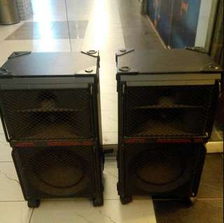 Jamo Professional 200A speakers on wheels