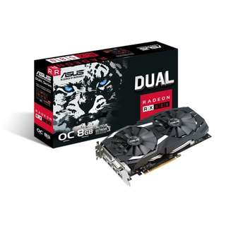 BNIB - ASUS Dual RX 580 OC edition 8GB GDDR5 GRAPHIC CARD