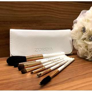 Zoreya 7pcs Makeup Brush Set (Classic White)