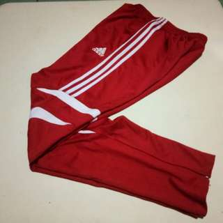 ADIDAS TRACK PANTS with ZIP (RED)
