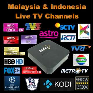 MALAYSIA + INDONESIA TV CHANNELS & ON DEMAND MOVIES