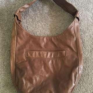GORMAN brown leather bag clutch