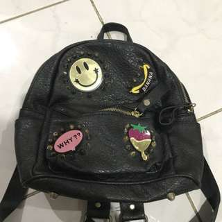 Mini Backpack + Badges
