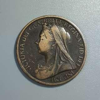 1901年 美國 one penny