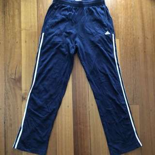 Navy Blue Adidas Pants