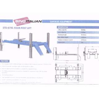 SINO ITALIAN 4 Post Lift Alignment