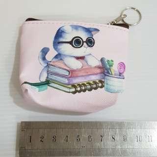 💝W36 Cat coin pouch purse wallet bag