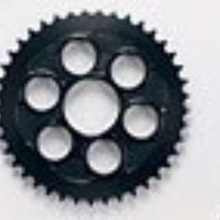 Plated Black Matte Gear 78mm