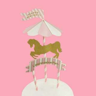 Birthday unicorn topper