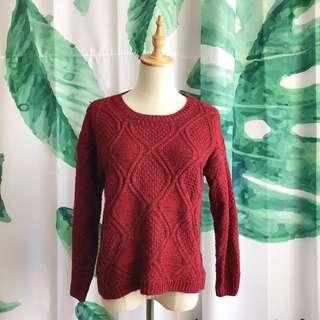 二手 新春紅色毛衣