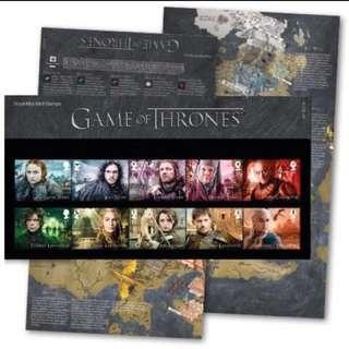 權力遊戲 限定郵票 全球限定1500套 Game Of Thrones Stamps 英國直送🇬🇧