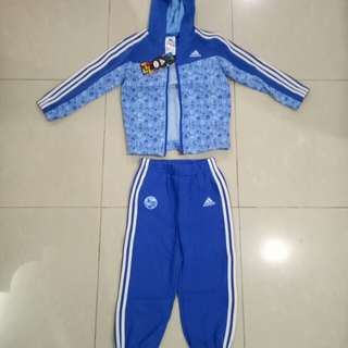 ADIDAS KIDS ORIGINAL 3 STRIPE WINNIE THE POOH TRACKSUIT / OUTFIT 2-3YRS HOODIE JOGGERS