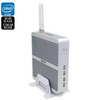 Hystou FMP03b Barebones Mini PC - Licensed Windows 10, 128GGB Memory, i3-7100U CPU, 8GB RAM, 128GB Storage, WiFi (CVAIA-E864-128GB)