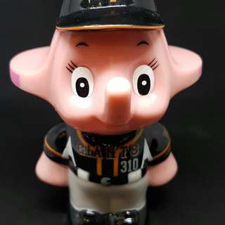 Pink Sato elephant baseball black