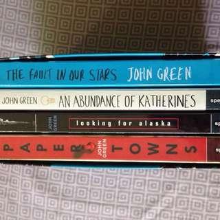 John green paperback book set