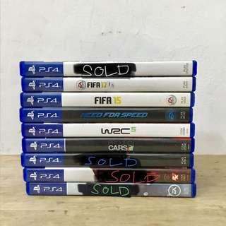 For Sale: PS 4 Original Games