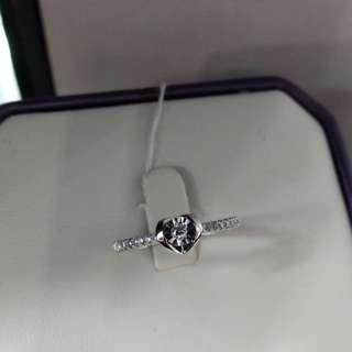 18K金鑽石戒指,(廣告價)