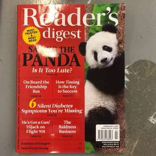 READER DIGEST FEBRUARY 2018
