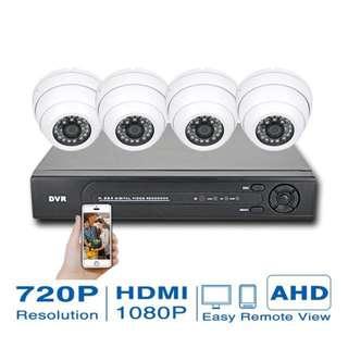 CCTV 4 cameras WiFi Mobile app no installation