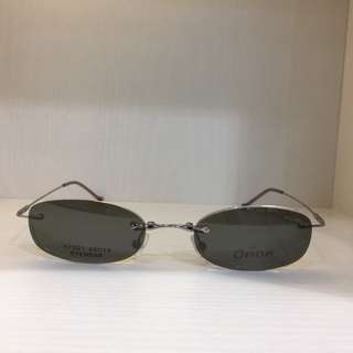 Vintage polarised clip on sunglasses