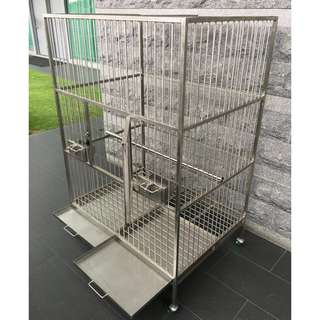 Professional Grade, 316L Stainless Steel Bird Cage