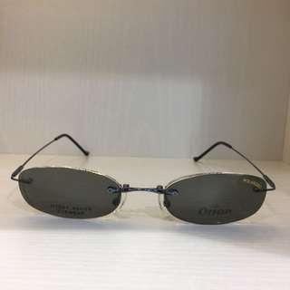 Vintage clip on polarised sunglasses