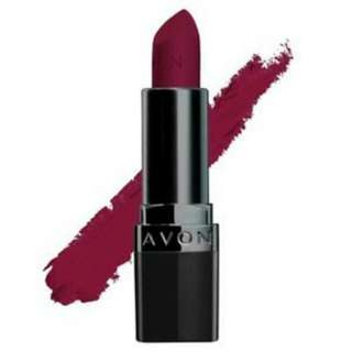 Brand New AVON ultra color perfectly matte lipstick- wild cherry  Sealed.  PS 1st photo not mine PPS 50% off brochure price