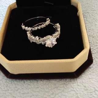 Leaf Diamond Zircon Rings