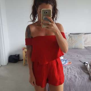 Little red playsuit