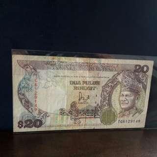 Duit Kertas Lama Malaysia RM20