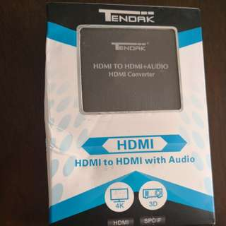 HDMI to HDMI+audio