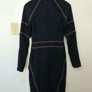 Midnight blue structured dress