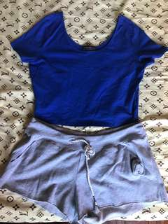 Forever 21 Plus Size Royal Blue Crop top