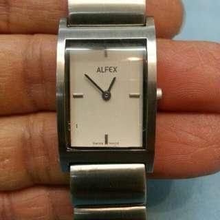 全新 瑞士 ALFEX 全鋼 三針 手錶(see settlement location frist)